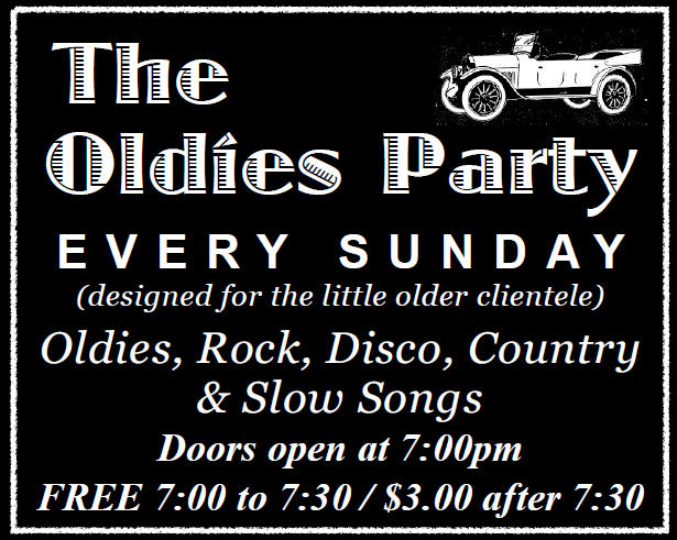 sunday night Oldies Dance Party